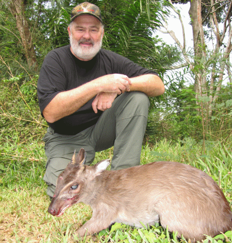 Tom Hammond with Maxwell's Duiker 2008