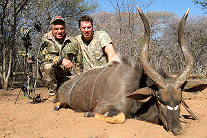 Nyala taken with Bow