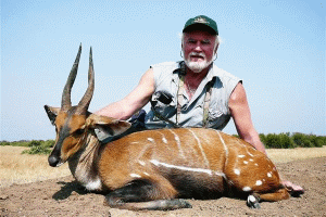 Rex Baker with Nile Bushbuck